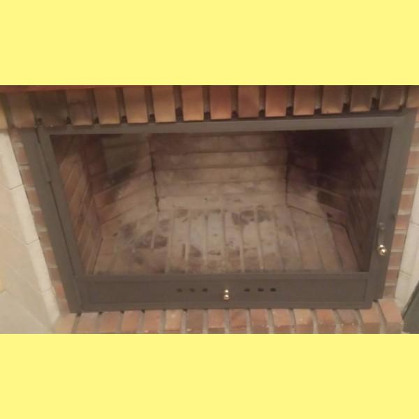 Puertas para chimeneas a medida 1 hoja chimeneas belloren - Puertas de vidrio para chimeneas ...