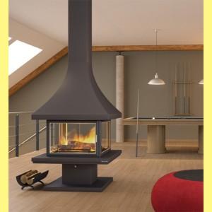 chimenea central ch86pca chimeneas belloren. Black Bedroom Furniture Sets. Home Design Ideas