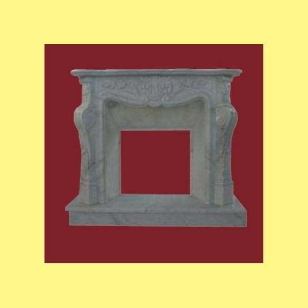 Marmol blanco ref c093 chimeneas belloren for Marmol blanco cristal